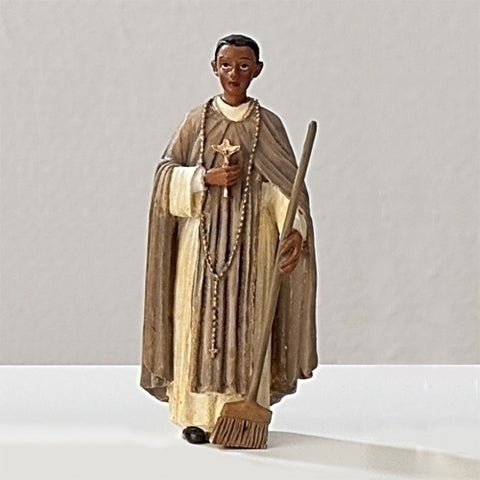 "3.5"" St. Martin de Porres Statue - The Paschal Lamb"