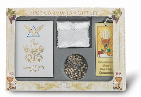 Girl's 'Blessed Trinity' First Communion Gift Set - The Paschal Lamb