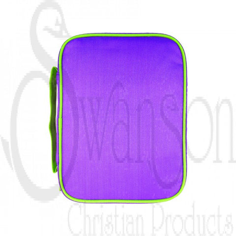 Purple and Lime Book & Bible Case