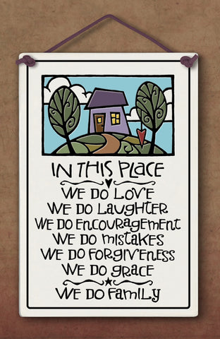 In This Place We Do Love Plaque - The Paschal Lamb