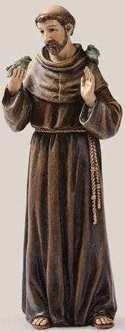 "6.25"" St. Francis Statue - The Paschal Lamb"