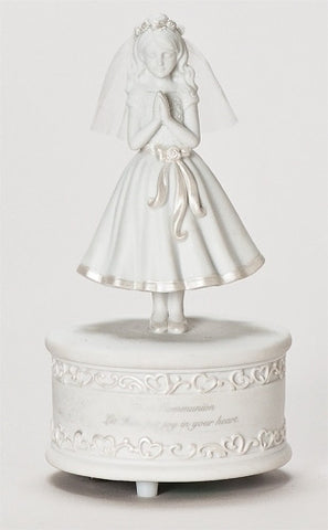 Musical Statue for First Communion Girl - paschallambselect.com