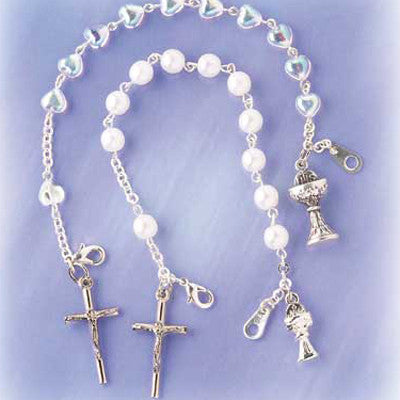 Rosary Bracelets for First Communion - The Paschal Lamb