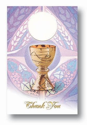 Chalice First Communion Thank You Cards and Invitations - The Paschal Lamb