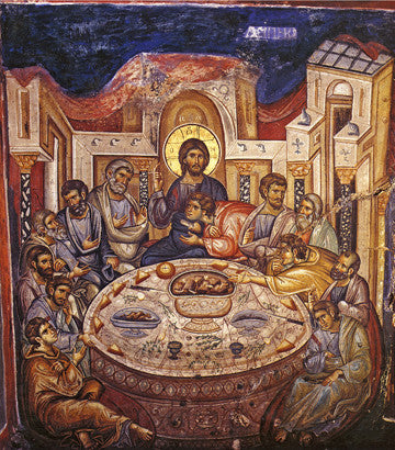 Mystical Supper (Vatopedi, 1312) - The Paschal Lamb