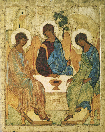 Holy Trinity (Rublev) - The Paschal Lamb