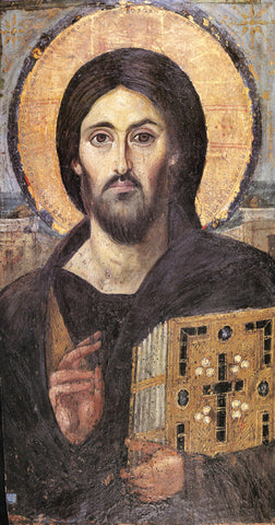 Pantocrator (Sinai) Icon - The Paschal Lamb