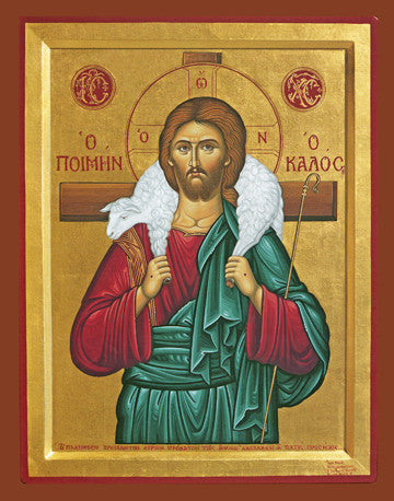 Good Shepherd Icon - The Paschal Lamb