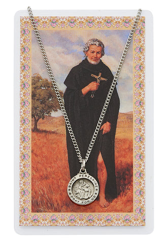 St. Peregrine Prayer Card and Medal Set - The Paschal Lamb