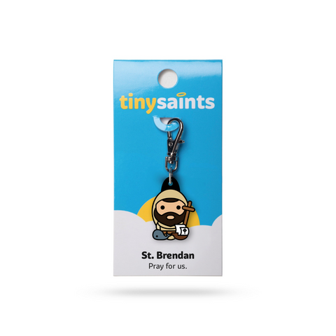 Saint Brendan Tiny Saints Charm - The Paschal Lamb