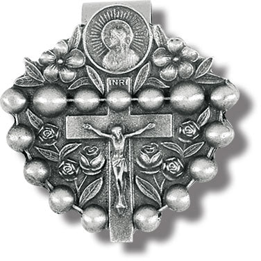 Rosary Auto Visor Clip - The Paschal Lamb