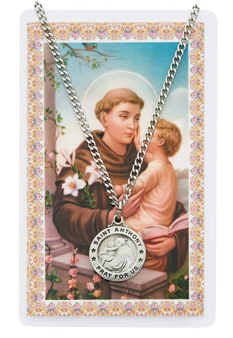 St. Anthony Prayer Card and Medal Set - The Paschal Lamb