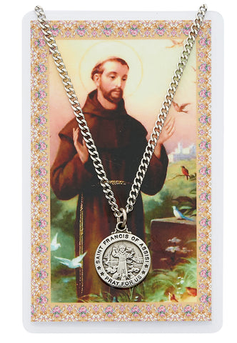St. Francis Prayer Card and Medal Set - The Paschal Lamb