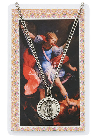 St. Michael Prayer Card and Medal Set - The Paschal Lamb