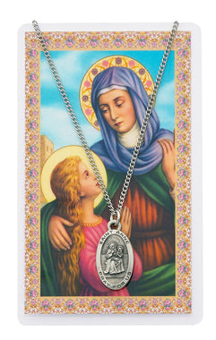 St. Ann Medal and Holy Card Set - The Paschal Lamb