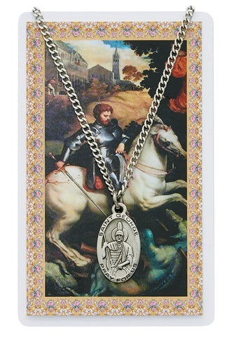 St. George Prayer Card and Medal Set - The Paschal Lamb