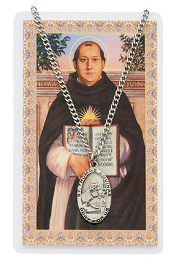 St. Thomas Aquinas Prayer Card and Medal Set - The Paschal Lamb