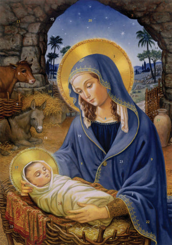 Mary with Child Advent Calendar - The Paschal Lamb