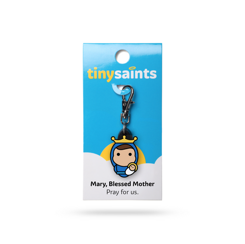 Blessed Mother Tiny Saints Charm - The Paschal Lamb