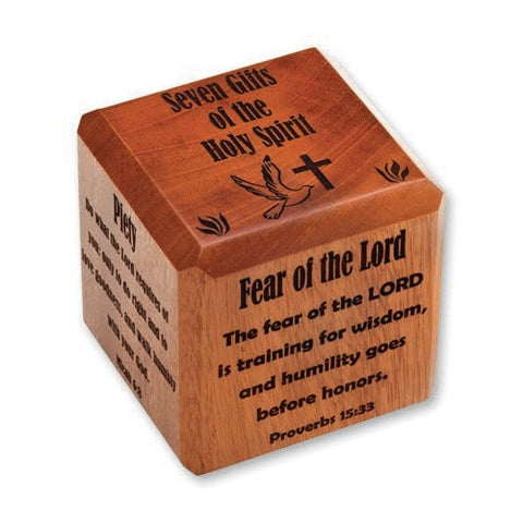 Gifts of the Holy Spirit Confirmation Cube - The Paschal Lamb