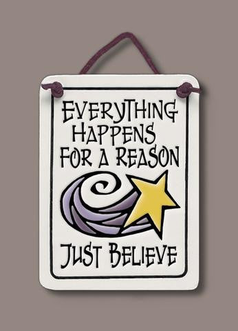 Everything Happens for a Reason Spooner Creek Plaque - paschallambselect.com