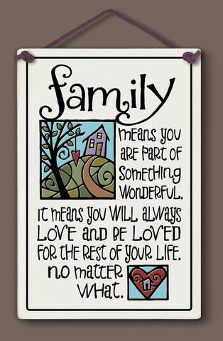 Family Means Spooner Creek Plaque - paschallambselect.com