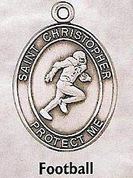 st. christopher football medal - paschallambselect.com
