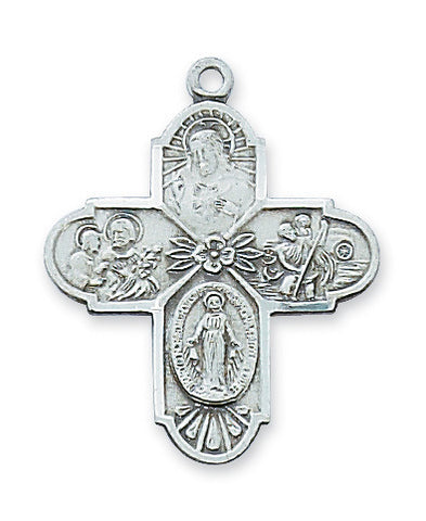"Four Way Medal, 1"" - The Paschal Lamb"