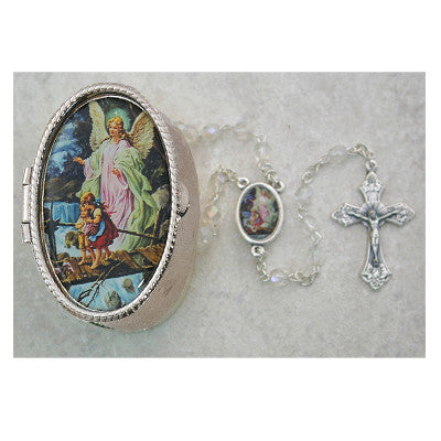 Guardian Angel Rosary with Matching Box - The Paschal Lamb