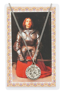 St. Joan of Arc Prayer Card and Medal Set - The Paschal Lamb