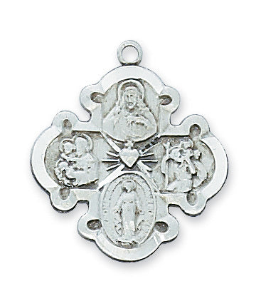 "Four Way Medal, 7/8"" - The Paschal Lamb"
