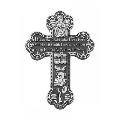 Bless This Child Wall Cross - The Paschal Lamb