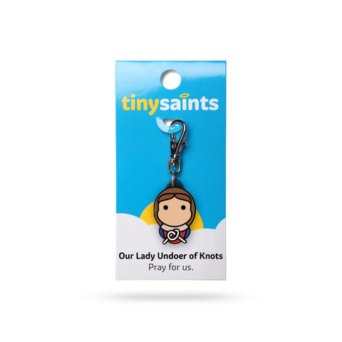 Our Lady Undoer of Knots Tiny Saints Charm - The Paschal Lamb
