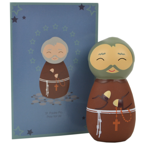 St. Padre Pio Shining Light Doll - The Paschal Lamb