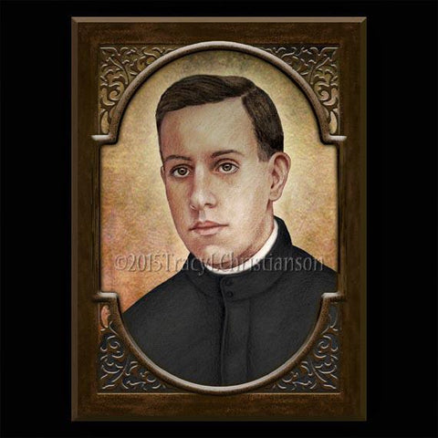 Bl Miguel Pro Plaque and Holy Card Gift Set-paschallambselect.com
