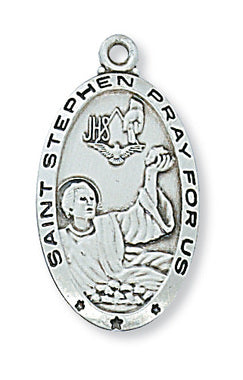 st. stephen sterling silver medal - paschallambselect.com