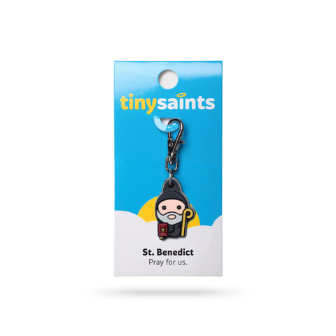 St. Benedict Tiny Saints Charm - The Paschal Lamb
