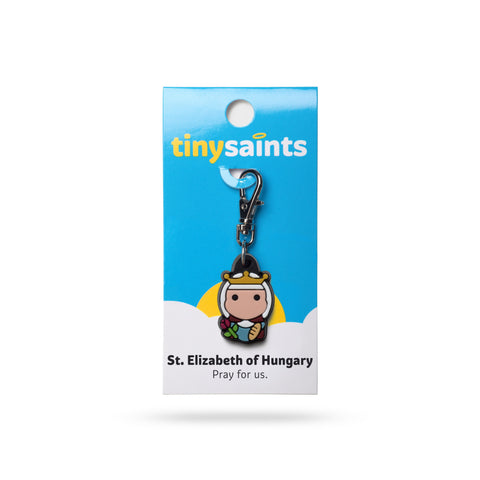 St. Elizabeth of Hungary Tiny Saints Charm - paschallambselect.com