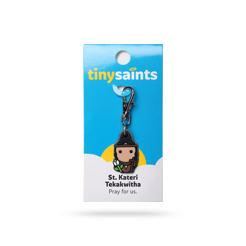St. Kateri Tiny Saints Charm - The Paschal Lamb