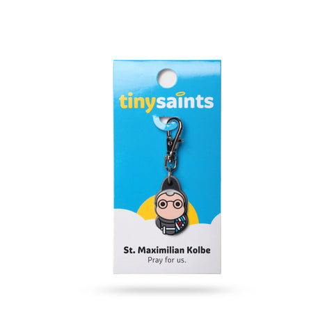 St. Maximillian Kolbe Tiny Saints Charm - The Paschal Lamb