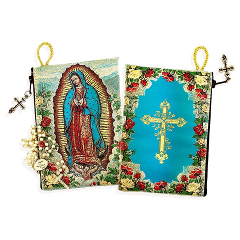 Icon Rosary Pouch - Our Lady of Guadalupe - The Paschal Lamb