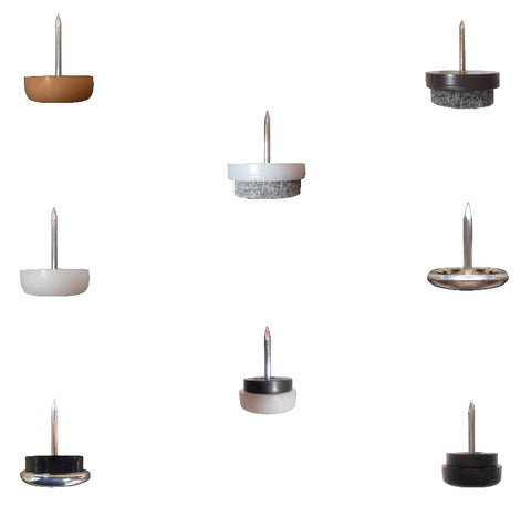 Nail On Furniture Glides for Hardwood Floors, Carpet and Vinyl