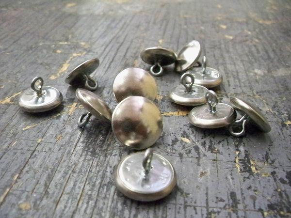 FINSHED METAL BUTTONS #24 BRASS WIRE EYE