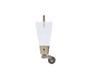 LDWQ6B Acrylic Leg with Brushed Antique Brass Caster