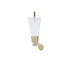 LDWQ6C Acrylic Leg with Brushed Bright Brass Caster