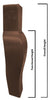 LL2905W Front Chair Legs - Walnut Finish