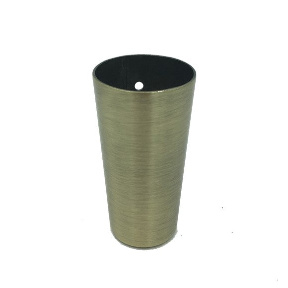 LWF1B Ferrule Round Cup Brushed Brass Antique