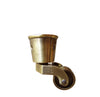 Round Cup Furniture Leg Casters - Brushed Antique Brass LWZ1B