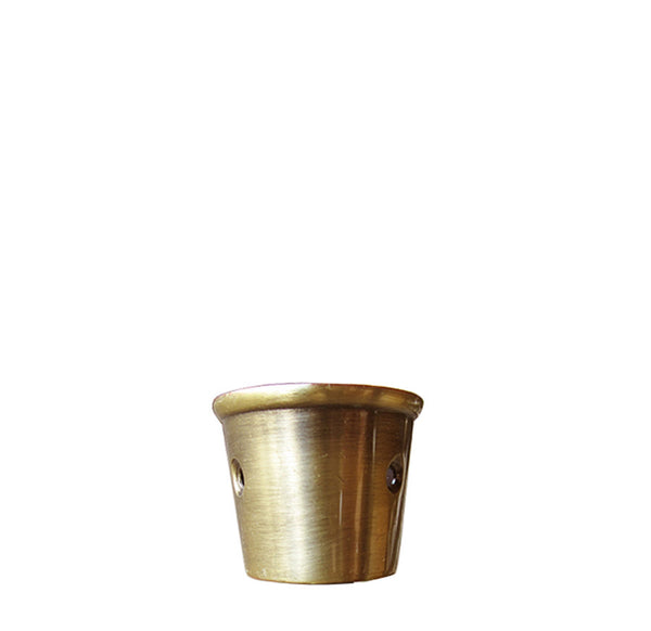 Round Furniture Leg Caster Cups - Brushed Brass lwx1b