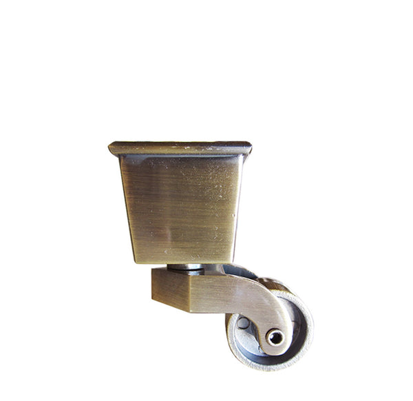 Square Cup Furniture Leg Casters - Antique Brass LWZ2B